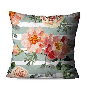 Almofada floral listras