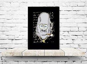 Quadro decorativo gorila