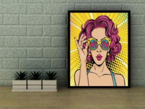 Quadro decorativo pop art