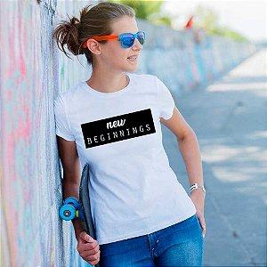 Camiseta T-shirt Feminina new