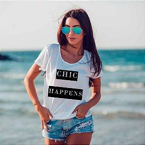 Camiseta T-shirt Feminina chic