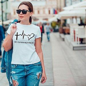 Camiseta T-shirt Feminina Fé