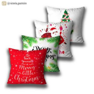 kit 4 almofadas Lindo Natal