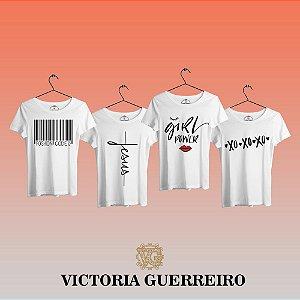 Kit 4 Camiseta T-shirt Feminina Vc Top