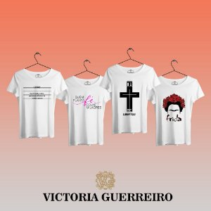 Kit 4 Camiseta T-shirt Feminina Cruz