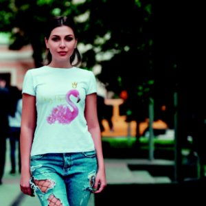 Camiseta T-shirt Feminina Flamingo