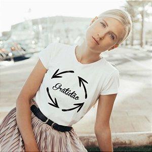 Camiseta T-shirt Feminina Gratidão
