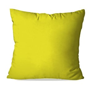 Almofadas lisas amarelas