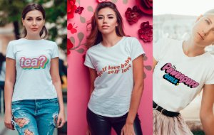 Kit 3 camisetas T-shirt  feminina Power