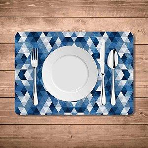 Jogo Americano Geométrico Azul
