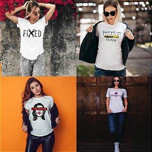 Kit 4 camisetas T-shirt  feminina Australia