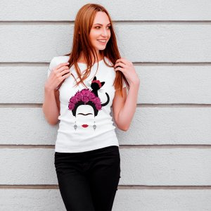 Camiseta T-shirt Feminina Frida Kahlo