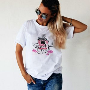 Camiseta T-shirt Feminina Beautiful