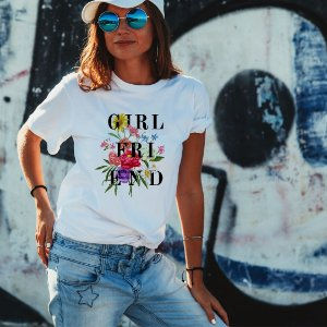 Camiseta T-shirt Feminina Girl Friend