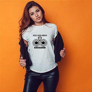 Camiseta T-shirt Feminina Ele É Meu Amigo