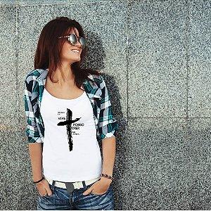 Camiseta T-shirt Feminina Posso Crer