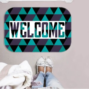 TAPETE DECORATIVO WELCOME ESCURO