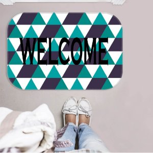TAPETE DECORATIVO WELCOME CLARO