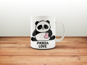 CANECA PANDA LOVE