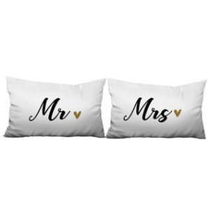 CAPA FRONHA DECORATIVA MR E MRS