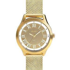 8b7b9e321a767 Relógio Euro Ouse Ser Você Mesma Feminino Dourado EU2039JH 4D