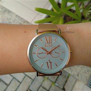 5f1ce19e57ce4 Relógio Euro Multi Glow Feminino Bicolor EU6P29AHA 5K