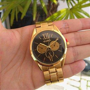 ecfa1c22a53dd Relógio Euro Construções Feminino Dourado EU6P79AD 4P