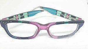Óculos italiano pintado a mão Mattisse - Butterfly Blue