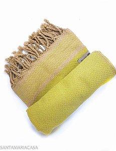 Fouta trançada Pistache - Toalha Turca artesanal de algodão de alta qualidade