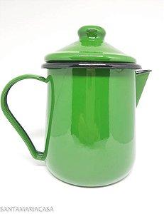 Leiteira Verde esmaltada Ewel