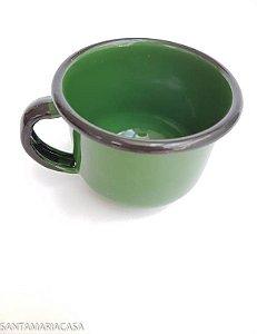 Chícara de café Verde esmaltada Ewel  120ml