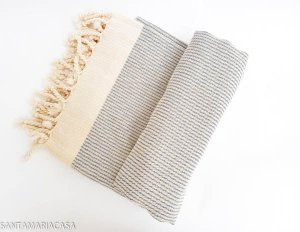 Fouta Indigo - Toalha Turca artesanal de algodão de alta qualidade