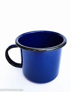 Caneca Azul esmaltada Ewel 370ml