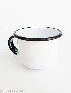 Chícara de café Branca esmaltada Ewel  120ml