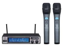 Microfone Digital Duplo Mak Pro MK-UHF 265