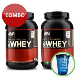 2x 100% Whey Gold Standard + Copo - Optimum