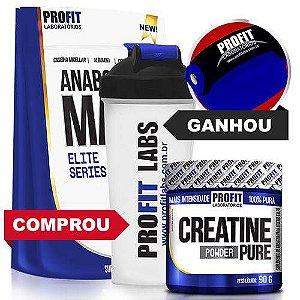 [PROFIT] Anabolic Mass 3kg + Creatina + Coqueteleira + Luva