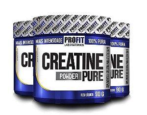 3 Creatinas Powder Pure (90g) - ProFit