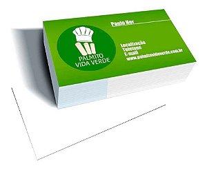 Cartão De Visita Verniz Total Frente 250gr 4x0 Verso Branco 1.000 und