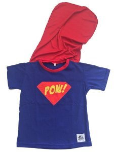 Camiseta com Capa Superman