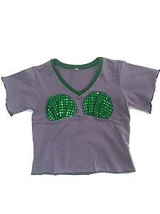 Camiseta Pequena Sereia - Ariel