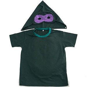 Camiseta com Capuz Tartaruga Ninja