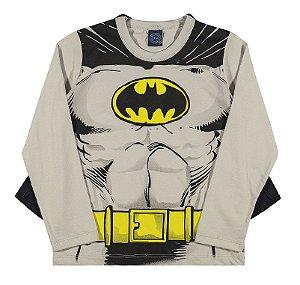 Camiseta com Capa Manga Longa Batman