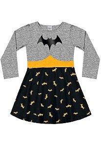 Vestido Manga Longa Batgirl