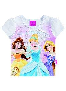 Camiseta Manga Curta Princesas