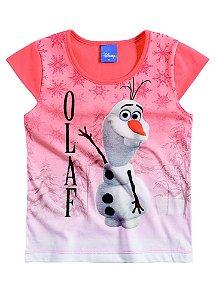 Camiseta Manga Curta Olaf - Frozen