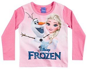 Camiseta Manga Longa Frozen