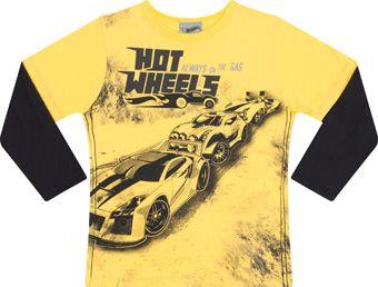 Camiseta Manga Longa Amarela Hotwheels