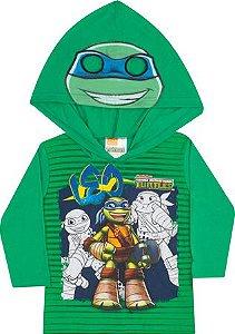 Camiseta Manga Longa com Capuz Tartaruga Ninja