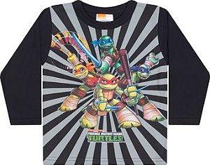 Camiseta Manga Longa Tartaruga Ninja